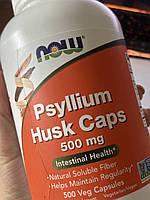 Now Foods, Psyllium Husk Caps, 500 mg, 500 Veg Capsules, псиллиум, клетчатка
