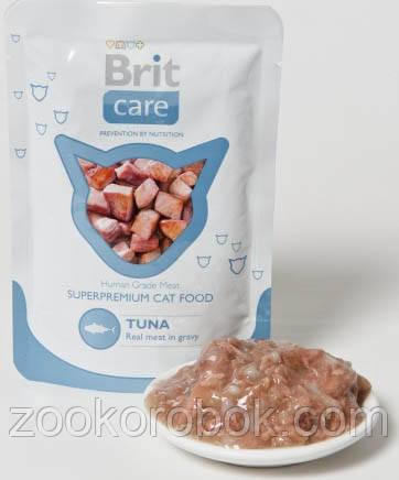 Консервы Brit Care Cat pouch  для кошек, тунец, 80г