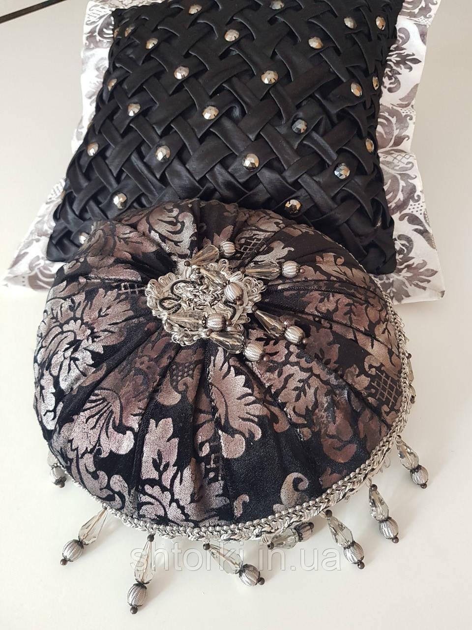 Комплект подушек серо-черные Hand Made, 2шт