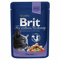 Консервы Brit Premium Cat Pouch  для кошек, треска, 100г