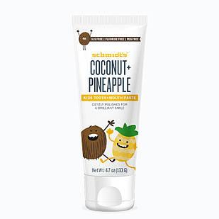 Schmidt's Kids Coconut & Pineapple дитяча паста без фтору від 2-х років , кокос і ананас 133 гр