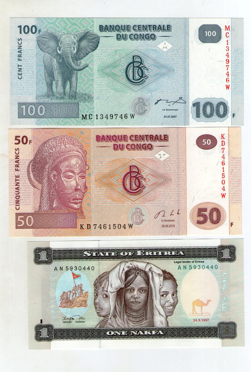 Набор банкнот стран Африки состояние UNS -3 шт. №12