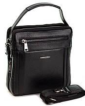 Чоловіча шкіряна сумка чорна Eminsa 6136-37-1