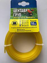 Леска для триммера квадрат из нейлона 2,4 мм 15 метров Производство Украина