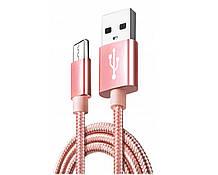 Кабель USB - microUSB typ B Nela-Styl 1 m сиреневый.