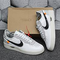 Мужские кроссовки Nike Air Force 1 Off-White '07 virgil белые найк