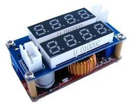 Преобразователь напряжения понижающий XL4015 ампер/вольтметр