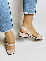 Evromoda. Модные женские кожаные босоножки. Натуральная кожа. Турция. Размер 36 37 38 39 40, фото 5