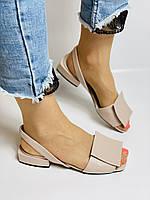 Evromoda. Модные женские кожаные босоножки. Натуральная кожа. Турция. Размер 36 37 38 39 40, фото 10