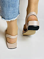Evromoda. Модные женские кожаные босоножки. Натуральная кожа. Турция. Размер 36 37 38 39 40, фото 6