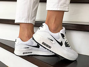 Женские кроссовки Nike air max 90, белые с черным, фото 2