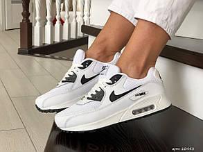 Женские кроссовки Nike air max 90, белые с черным