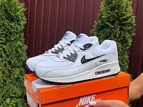 Женские кроссовки Nike air max 90, белые с черным, фото 3
