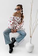 Стильная подростковая блузка Губки тм Barbarris Размеры 134-164