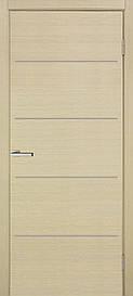 Двери Omis Офис М глухое натуральный шпон Дуб беленный FL, 900