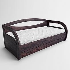 Ліжко дитяче дерев'яне Баварія з підйомним механізмом (масив ясеня)