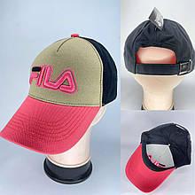 Разноцветная женская стильная кепка реплика FILА
