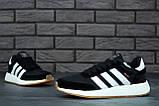 Женские кроссовки Adidas Iniki в стиле адидас иники Черные Белые (Реплика ААА+), фото 7