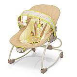 Дитяче крісло-качалка шезлонг 2в1 Mastela, з музикою і виброрежимом бежевий колір від народження до 18 кг, фото 2