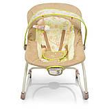 Дитяче крісло-качалка шезлонг 2в1 Mastela, з музикою і виброрежимом бежевий колір від народження до 18 кг, фото 3