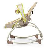 Дитяче крісло-качалка шезлонг 2в1 Mastela, з музикою і виброрежимом бежевий колір від народження до 18 кг, фото 5