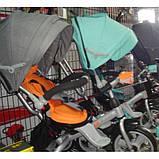 Триколісний велосипед з фарою і поворотним сидінням Azimut Crosser T503 EVA, бірюза, фото 2