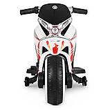 Дитячий електро мотоцикл на акумуляторі Bambi M 3682L-1 білий. Дитячий мотоцикл електричний, фото 3