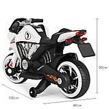 Дитячий електро мотоцикл на акумуляторі Bambi M 3682L-1 білий. Дитячий мотоцикл електричний, фото 5