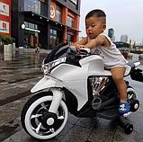 Дитячий електро мотоцикл на акумуляторі Bambi M 3682L-1 білий. Дитячий мотоцикл електричний, фото 7