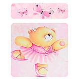 Детский деревянный столик и 2 стульчика Мишка, розовый, 501-23  Мишка, фото 5