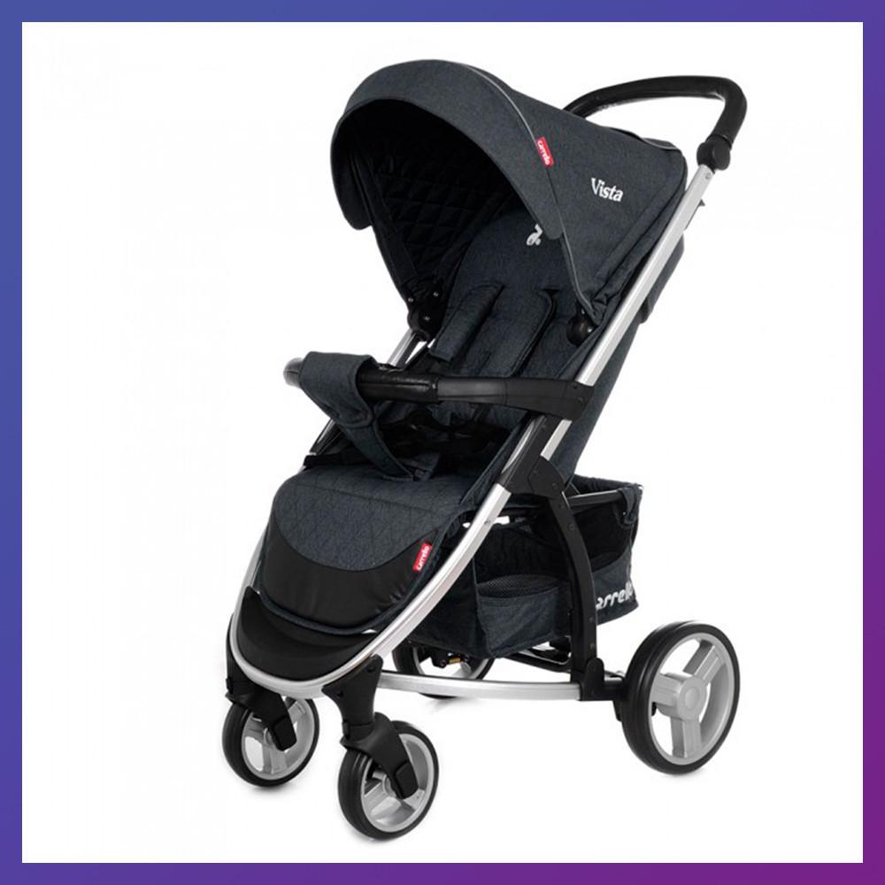 Дитяча прогулянкова коляска - книжка з регульованою спинкою CARRELLO Vista CRL-8505 Frost Gray темно-сіра