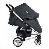Дитяча прогулянкова коляска - книжка з регульованою спинкою CARRELLO Vista CRL-8505 Frost Gray темно-сіра, фото 2