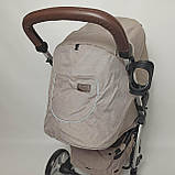 Дитяча прогулянкова коляска - книжка з регульованою спинкою CARRELLO Vista CRL-8505 Frost Gray темно-сіра, фото 7