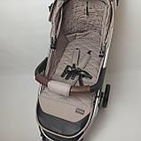Дитяча прогулянкова коляска - книжка з регульованою спинкою CARRELLO Vista CRL-8505 Frost Gray темно-сіра, фото 10