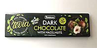 Чорний шоколад з лісовими горіхами Torras Stevia Dark Chocolate with Hazelnuts, 300 g