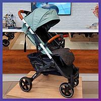 Детская прогулочная коляска - книжка с регулируемой спинкой CARRELLO Astra CRL-5505 Mint Green зеленая