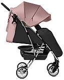 Детская прогулочная коляска - книжка с регулируемой спинкой CARRELLO Gloria CRL-8506/1 розовая колеса резина, фото 3