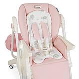 Детский стульчик для кормления с регулируемой спинкой El Camino Dolce 3236 Sweet Pink розовый, фото 7