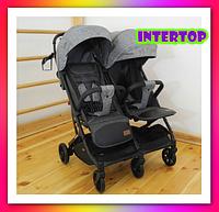 Детская прогулочная коляска для двойни CARRELLO Presto Duo CRL-5506 Pitch . Коляска для двоих детей