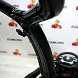 Детский толокар-электромобиль Mercedes-Benz двухместный на резиновых колесах Bambi M 3853 черный, фото 2