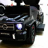 Детский толокар-электромобиль Mercedes-Benz двухместный на резиновых колесах Bambi M 3853 черный, фото 3