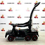 Детский толокар-электромобиль Mercedes-Benz двухместный на резиновых колесах Bambi M 3853 черный, фото 4