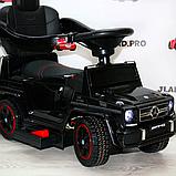 Детский толокар-электромобиль Mercedes-Benz двухместный на резиновых колесах Bambi M 3853 черный, фото 6