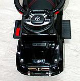 Детский толокар-электромобиль Mercedes-Benz двухместный на резиновых колесах Bambi M 3853 черный, фото 7