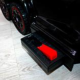 Детский толокар-электромобиль Mercedes-Benz двухместный на резиновых колесах Bambi M 3853 черный, фото 8