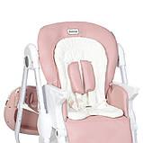 Дитячий стільчик для годування з регульованою спинкою El Camino Dolce M 3236 Rosette рожевий, фото 7