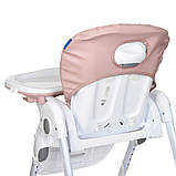 Дитячий стільчик для годування з регульованою спинкою El Camino Dolce M 3236 Rosette рожевий, фото 8
