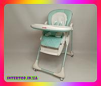 Детский стульчик для кормления с регулируемой спинкой Carrello Toffee CRL-9502 зеленый .