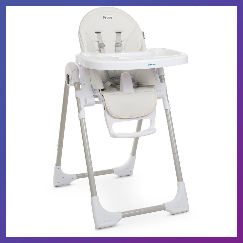 Стульчик детский для кормления с регулируемой спинкой El Camino ME 1038 White белый