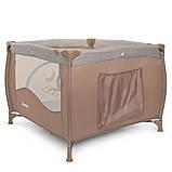 Детский игровой манеж-кровать квадратный El Camino ME 1030 Sand Len бежевый с чехлом, фото 4